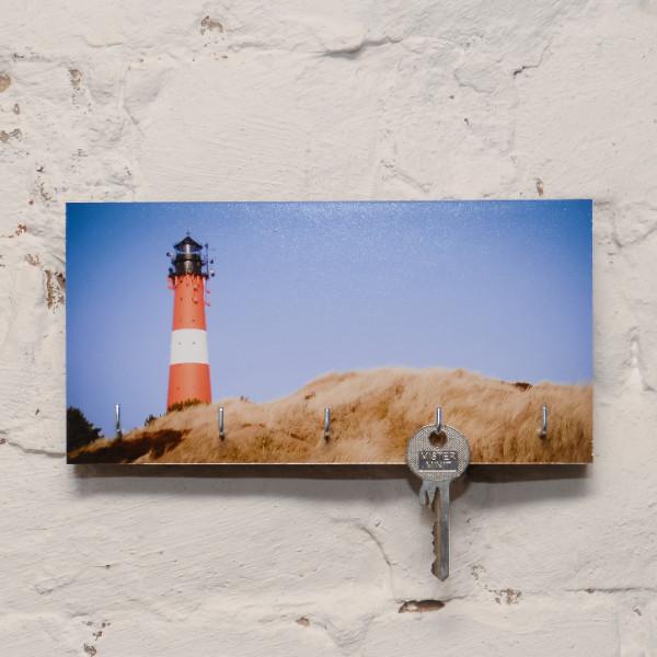 """Schlüsselbrett """"Leuchtturm Hörnum"""", 10 x 20 cm, versch. Ausführungen"""