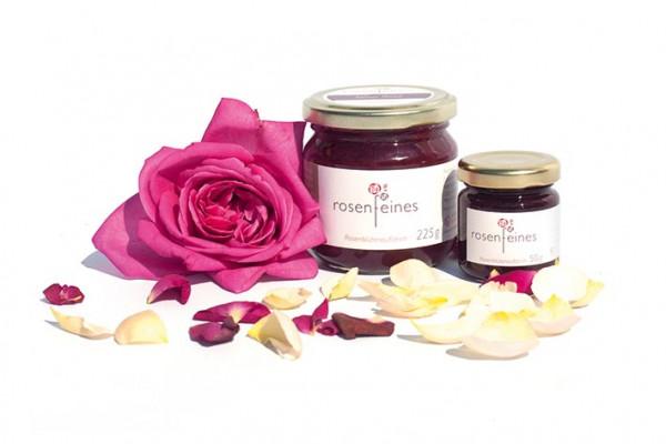 """Rose de Resht"" Rosen-Fruchtaufstrich, kräftig-rosig, 225 g"