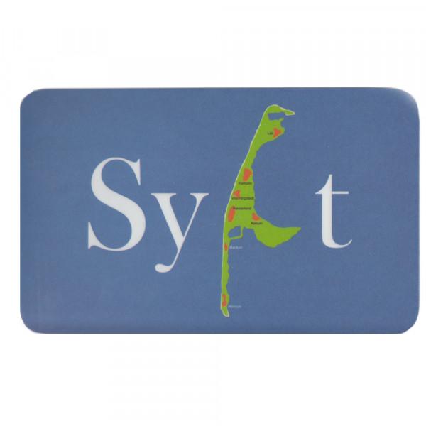 """Frühstücksbrettchen """"Sylt-Karte"""", blau"""