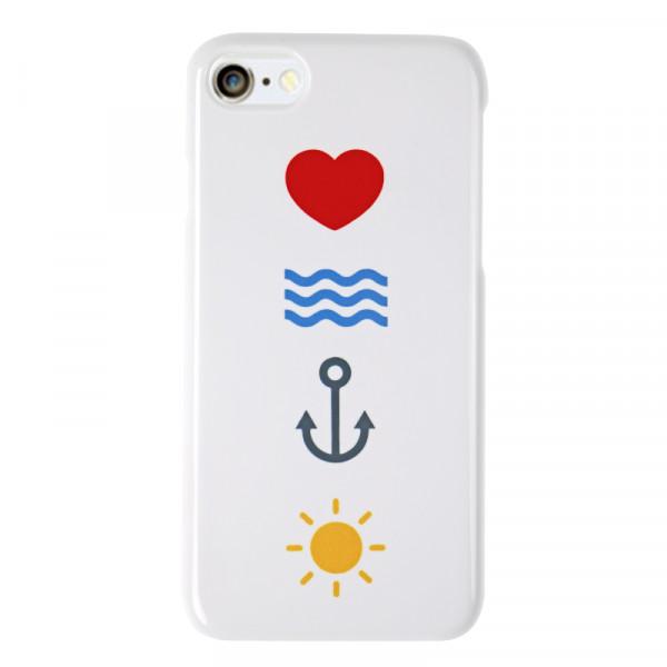 """love sea anchor sun"" Handyhülle"