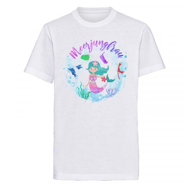 Kindershirt Meerjungfrau weiß, versch. Gößen