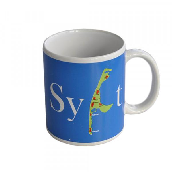 """Becher """"Sylt"""" blau Sylt-Karte"""