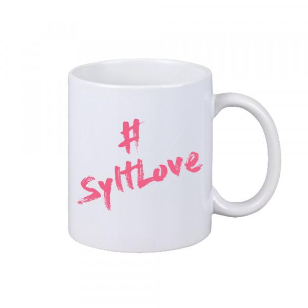 """Sylt-Becher """"#SyltLove"""", matt-weiß, versch. Farben"""