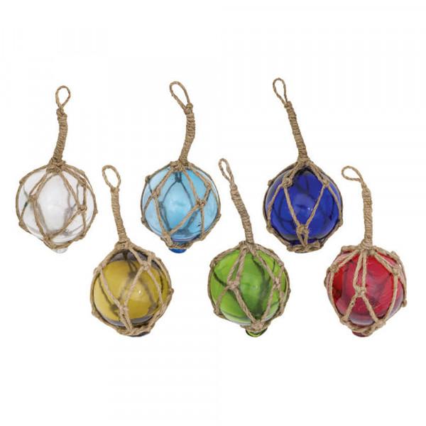 Fischerkugeln aus Glas; 6er-Set