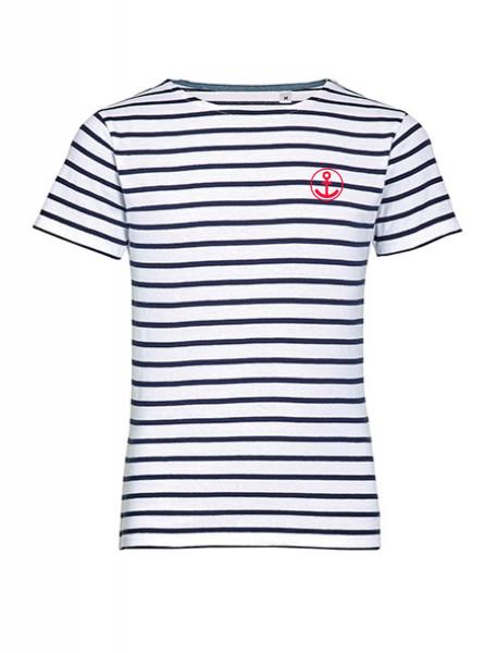 """T-Shirt """"Anker"""" für Kinder, blau-weiß gestreift"""