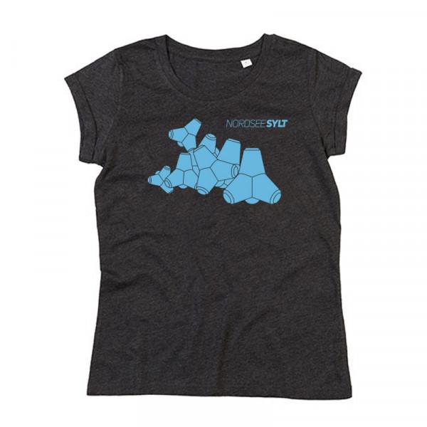 """T-Shirt """"Sylt Tetrapoden"""" für Damen, anthrazit"""