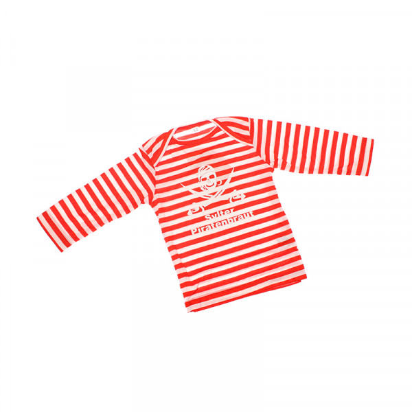 Sylter Piratenbraut Baby Shirt, gestreift, orange
