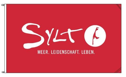Sylt-Flagge, 90x150cm, rot