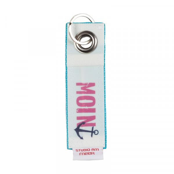 """Schlüsselanhänger """"MOIN"""" aus Segeltuch, 12 x 4 cm, versch. Motive"""