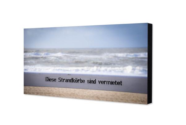 """Sylt-Fotorechteck """"Strand"""", 10 x 20 cm"""