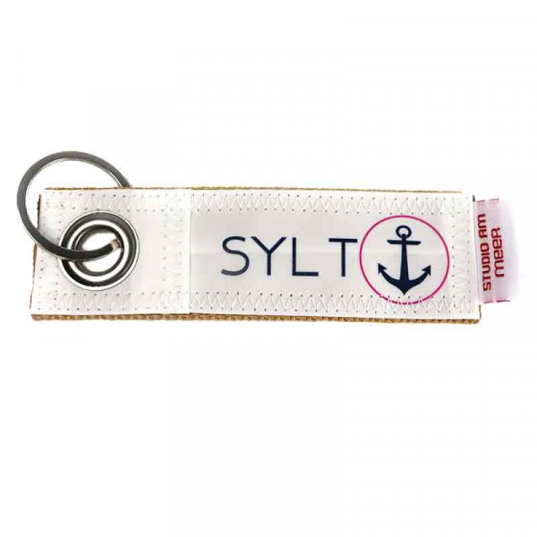 "Schlüsselanhänger ""SYLT"" aus Segeltuch, 12 x 4 cm, versch. Motive"