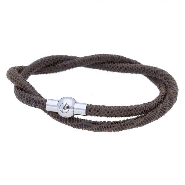 Sylt-Armband aus Nappaleder (4 mm) mit Echsenprägung