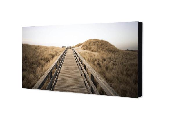 "Sylt-Fotorechteck ""Bohlenweg in den Dünen"", 10 x 20 cm"