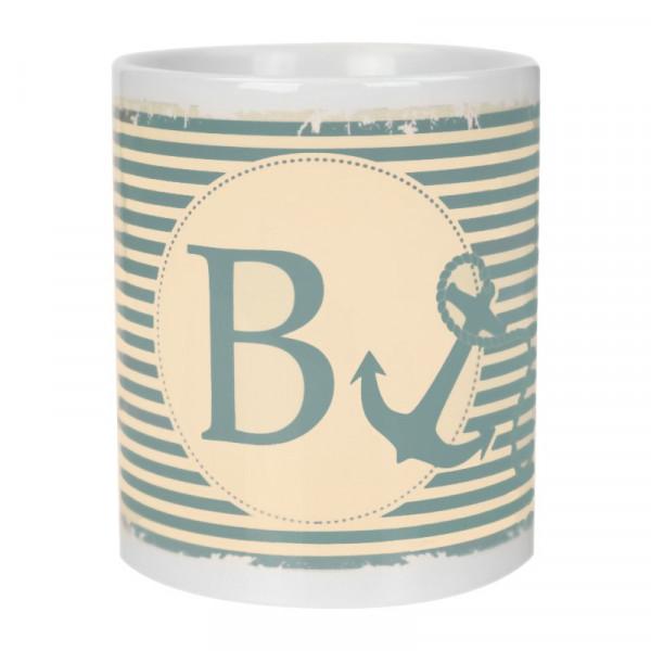Dein Buchstabe mit Anker Tasse