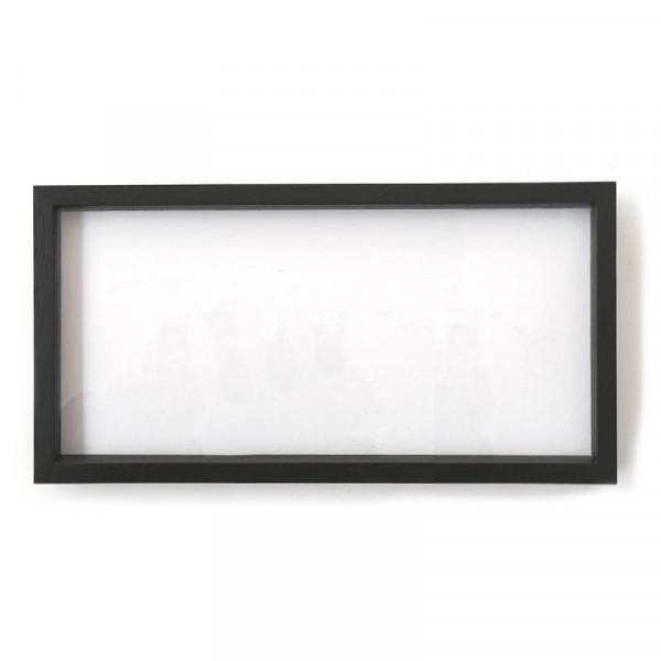 Objektrahmen schwarz, 14 x 29,9 cm