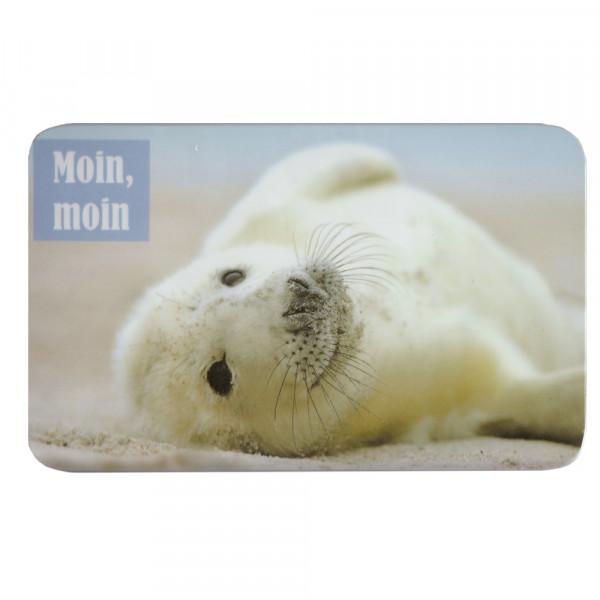 """Frühstücksbrettchen """"Moin Moin, Seehund"""""""