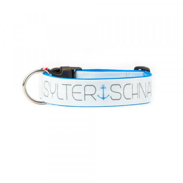 """Hunde-Halsband """"Sylter Schnauze"""" aus Segeltuch"""