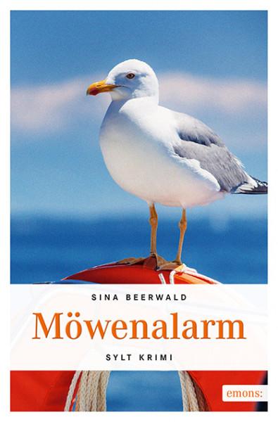 "Sylt-Krimi ""Möwenalarm"", handsigniert + Autogrammkarte, Sina Beerwald"