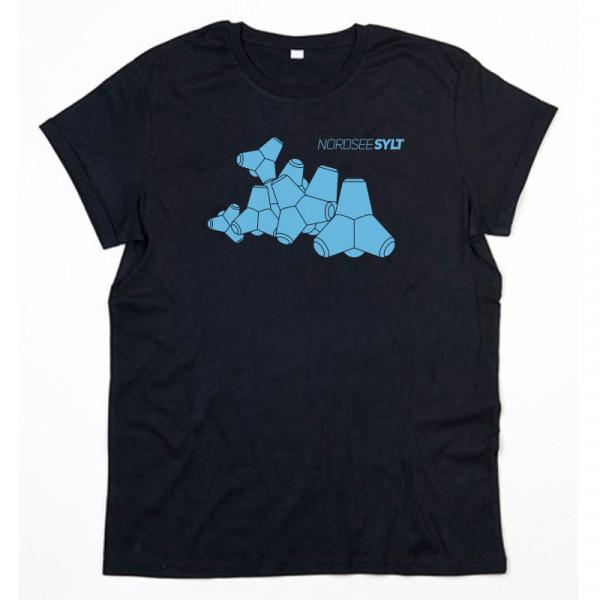 """T-Shirt """"Sylt Tetrapoden"""" für Herren, schwarz"""