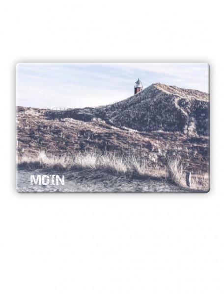 """Glasbrett """"Moin"""" mit den Kampener Dünen"""