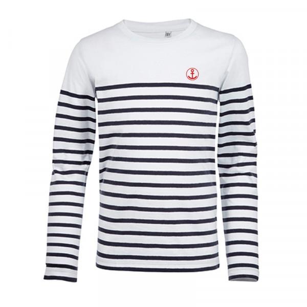 """Kinder Langarm-Shirt """"Anker"""", gestreift"""