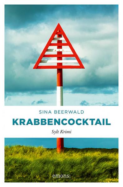"Sylt-Krimi ""Krabbencocktail"", handsigniert + Autogrammkarte, Sina Beerwald"