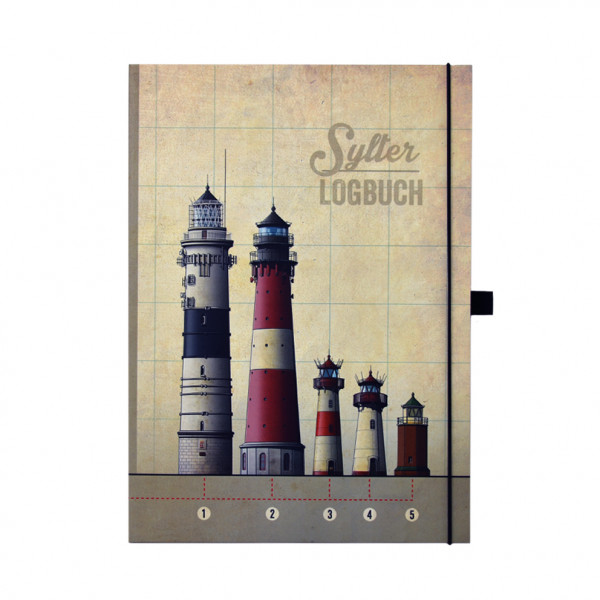 Sylter Logbuch, Hardcover-Notizbuch, DIN A4, blanco