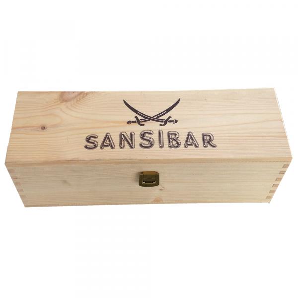 Sansibar Präsent-Holzkiste, 1er, mit Logo