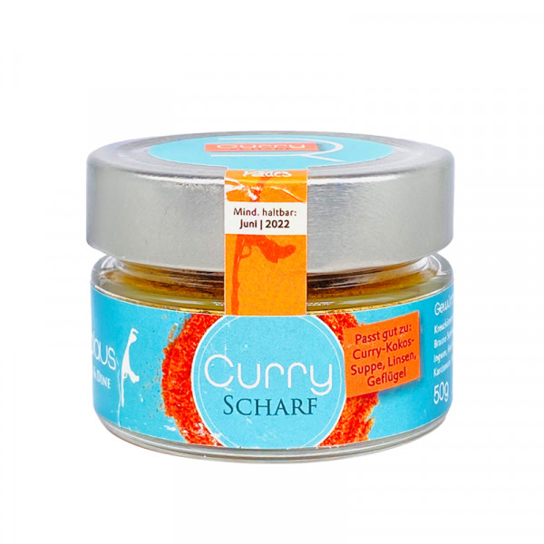 Curry Scharf, 50 g
