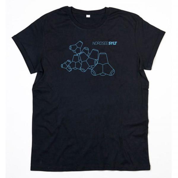 """T-Shirt """"Sylt Tetrapoden Kontur"""" für Herren, schwarz"""