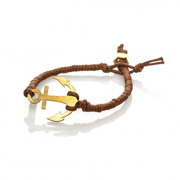 Anker-Armband in Messing