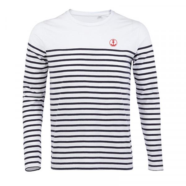 """Herren Langarm-Shirt """"Anker"""", gestreift"""