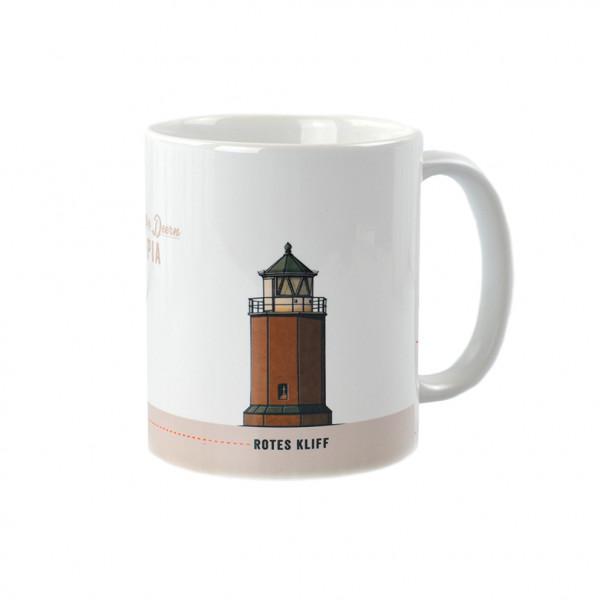 Sylt-Becher mit Wunschnamen, Leuchtturm Rotes Kliff, #4