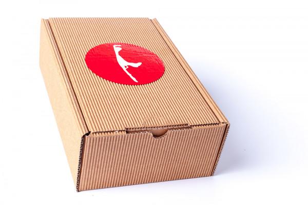 Sylt-Box, groß, hochwertiger Sylt-Karton, braun H43 x B21 x T12,5 cm