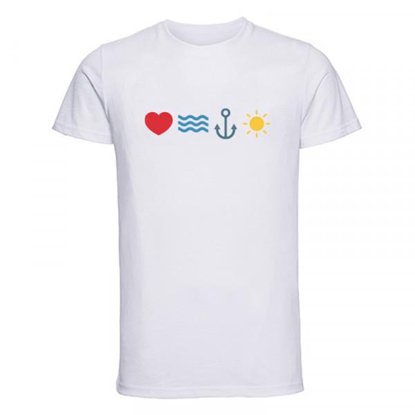 """""""love sea anchor sun"""" Herren T-Shirt"""