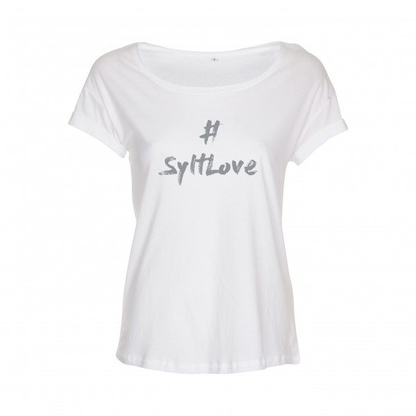 """T-Shirt """"SyltLove"""" für Damen, weiß"""