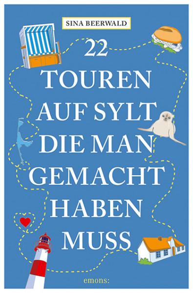 """Buch """"22 Touren auf Sylt die man gesehen haben muss"""", handsigniert + Autogrammkarte, Sina Beerwald"""