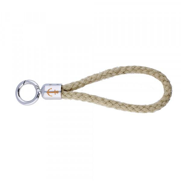 Anker-Schlüsselanhänger aus Segeltau