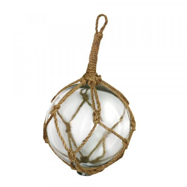 Fischerkugel aus Glas, Durchmesser 12,5 cm