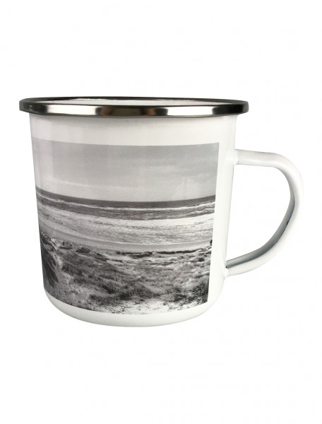 """Emaille-Becher """"North Sea: White Edition"""""""