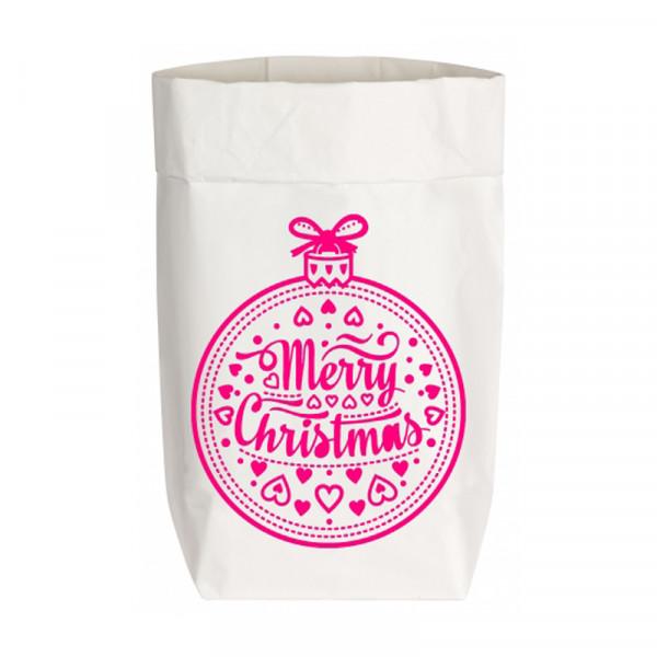 "Geschenktüte ""MERRY CHRISTMAS"", Größe S"