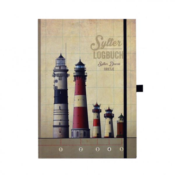Sylter Logbuch mit Wunschnamen, Hardcover-Notizblock, DIN A4, blanco