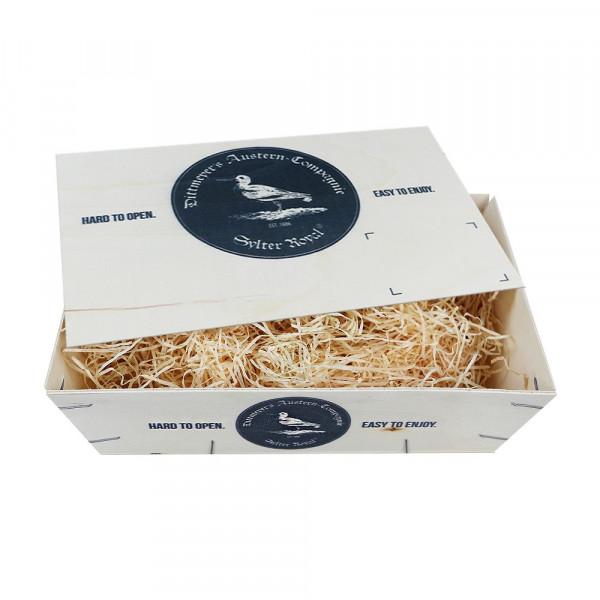 Sylt-Kiste, groß, original Sylter Austern-Kiste mit Deckel